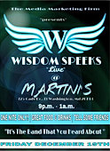 wisdomspeeks live at martinis