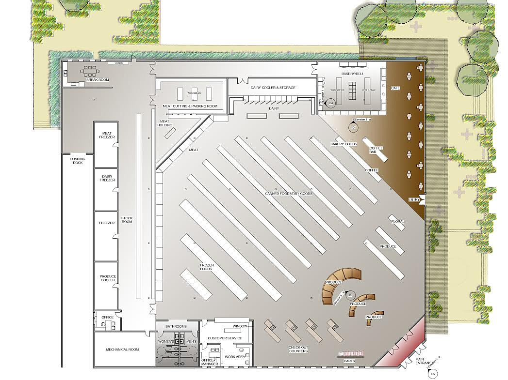 marvins grocery store floor plan