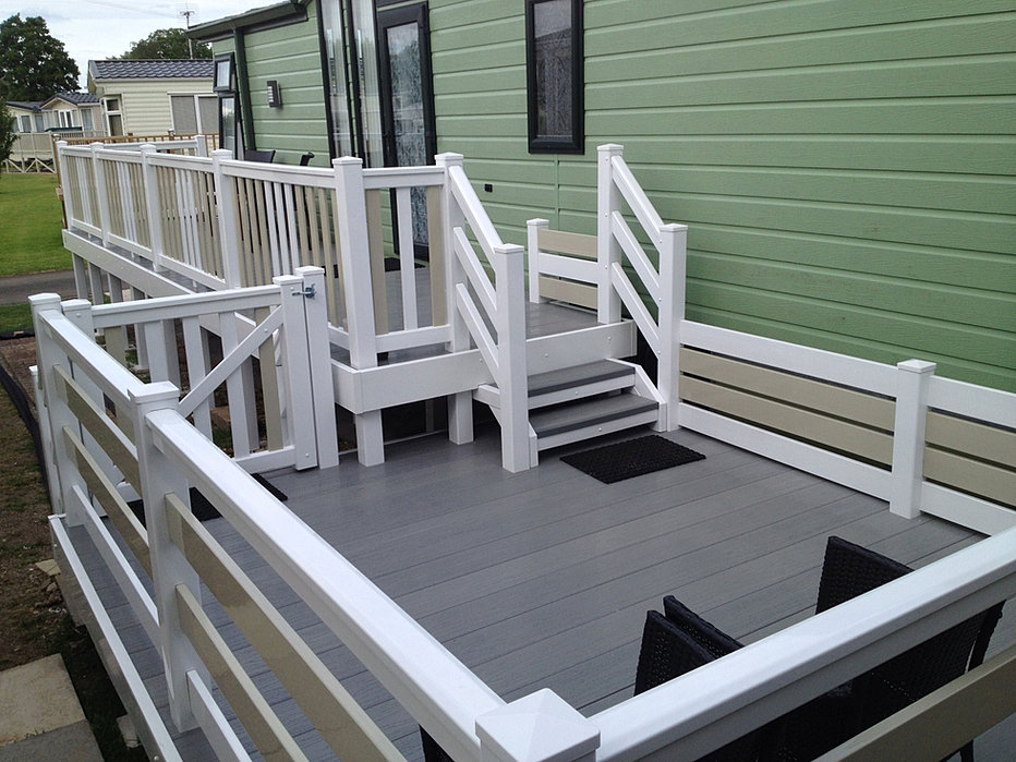 Luxury Static Caravans UPVc Decking  PVS Holdings Norfolk