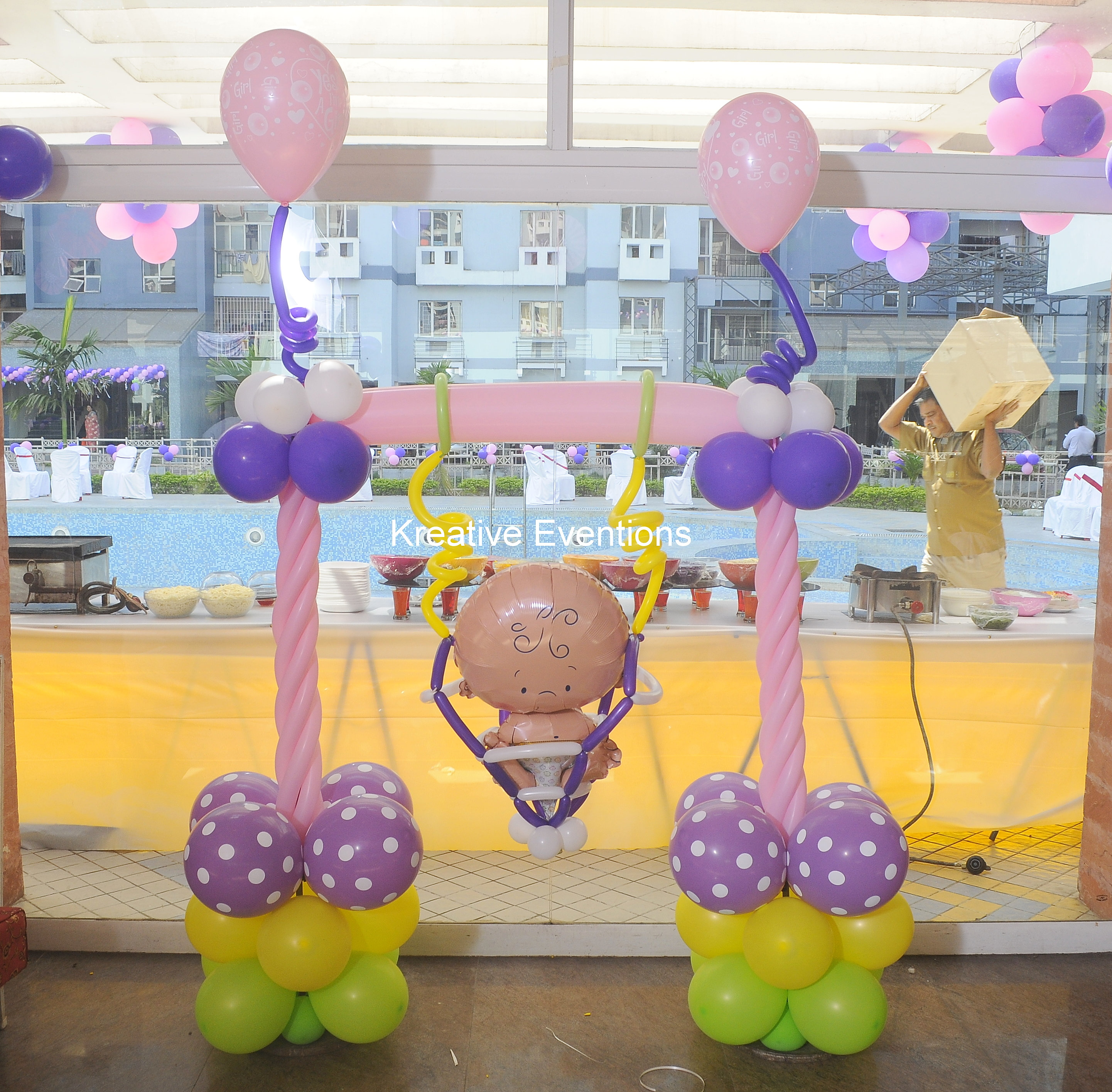 Kreative eventions singapore kids party planner twin for Baby shower decoration singapore