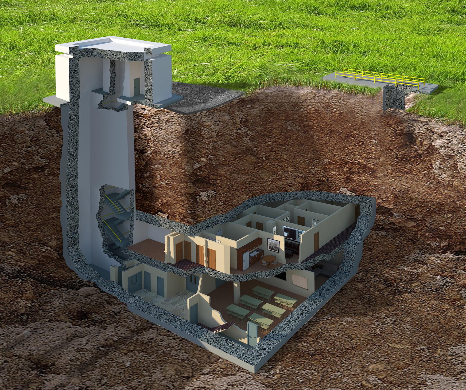 Как сделать подземное укрытие