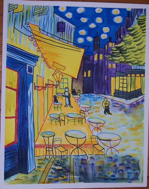 Van Gogh cafe acrylic