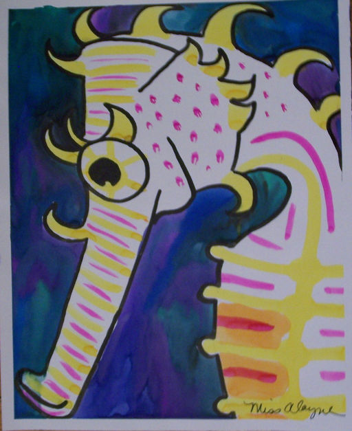 Sea horse watercolor