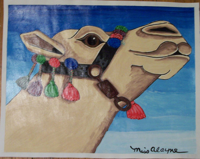 Camel Tempera varnished