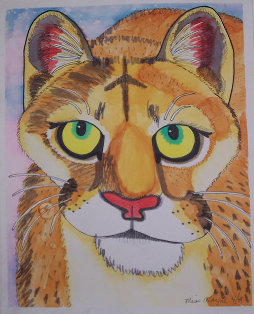 cougar watercolor