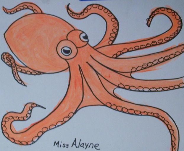 Octopus acrylic