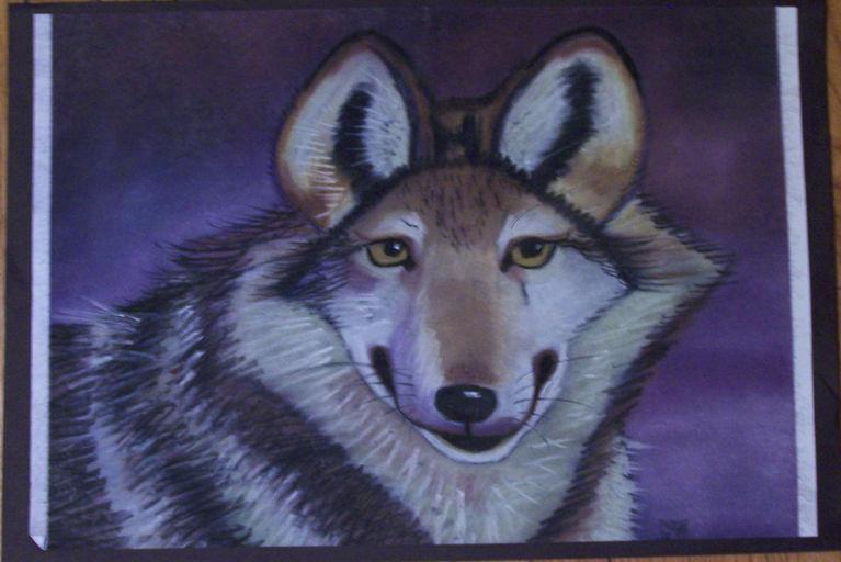 Wolf chalk pastel