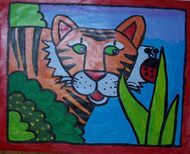 Tiger and Ladybug acrylic