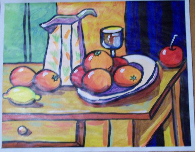 still-life Cezanne acrylic