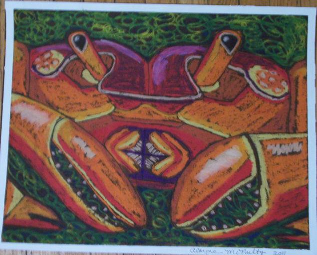 Crab oil pastel