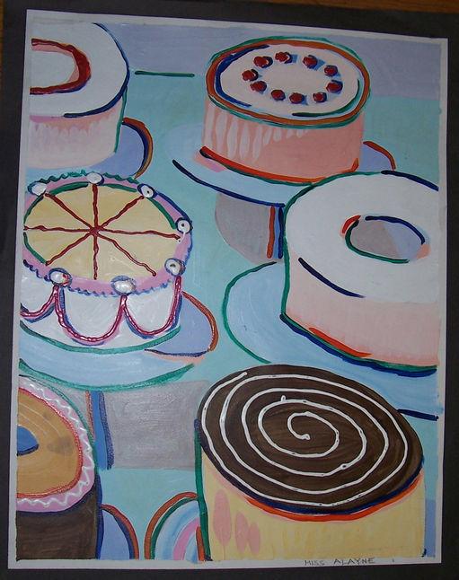 Wayne Thiebald cakes Acrylic