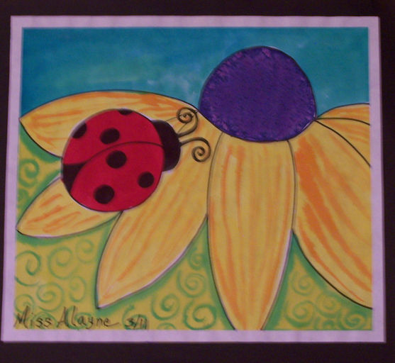 lady bug watercolor