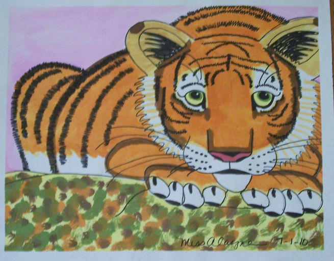 Baby Tiger watercolor