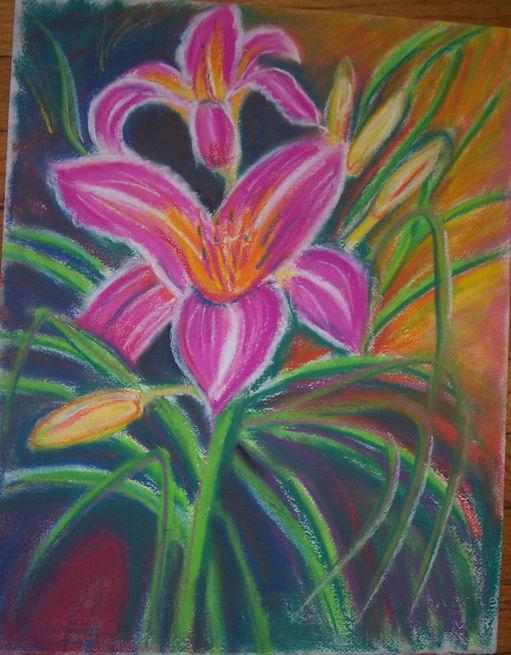 Lily chalk pastel