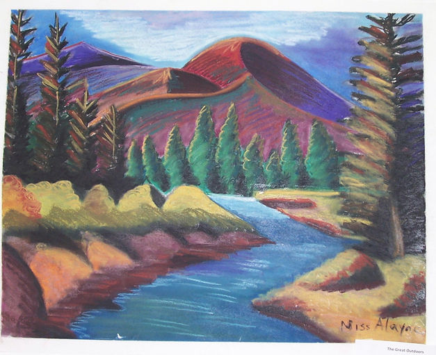 Mountain landscape chalkpastel