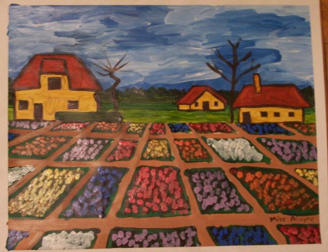 Van Gogh garden acrylic
