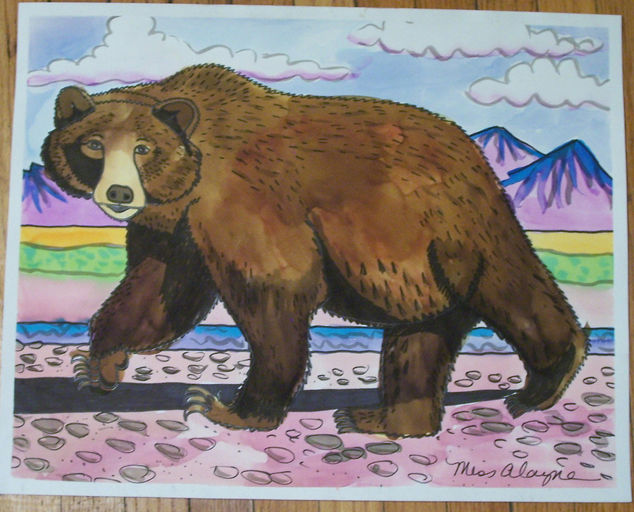 Big Bear watercolor