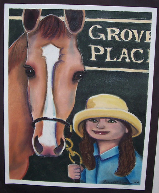 Girl and her horse Chalkpastel