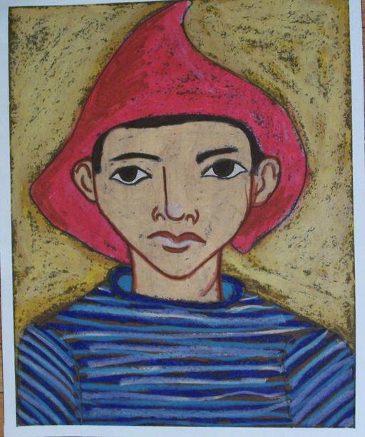 Famous portrait oil pastel