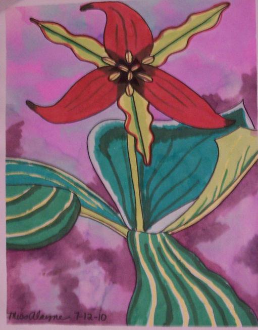 Trillium watercolor