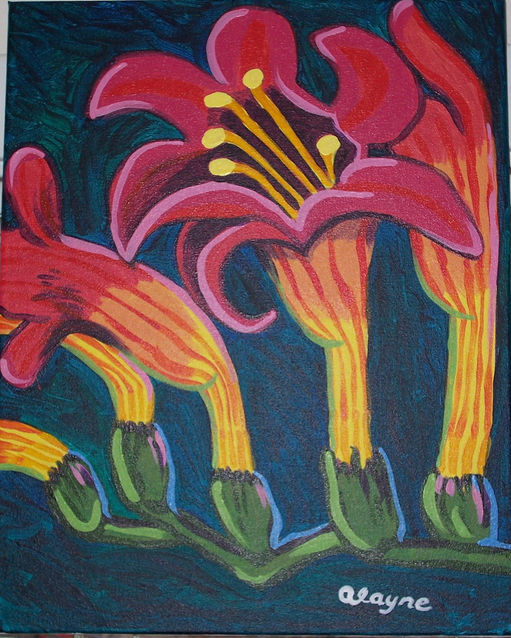 Flowers Acrylic on canvas