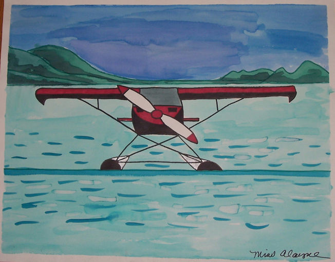 Plane watercolor