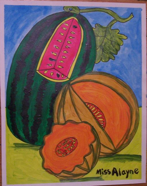 Melons acrylic