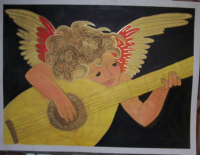 Angel watercolor