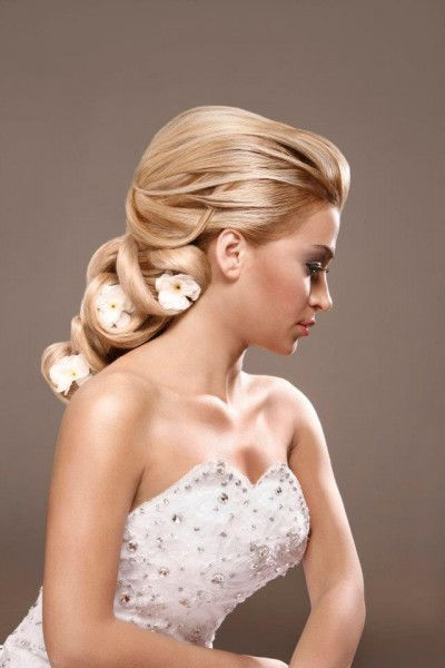 hair designs for wedding party _ bridal hair design _ short and log hairstyles _ hair