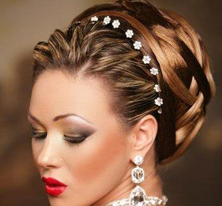 maas hair designs for wedding party _ bridal hair design _ short and log hairstyles