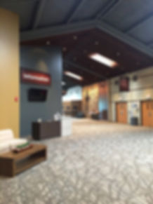 Element Church rennovated concourse facelift and children's ministry main entranc. DE|SL LLC