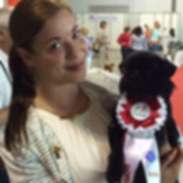Kennel Admiravel Griffons, Nathalie Omre and Chippichawa´s Miss Concorde at WDS 2015 in Milan