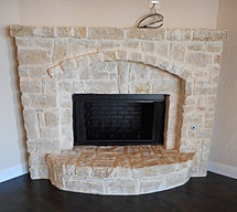 Fort worth home custom home builders call 817 903 1527 for Fireplace half stone