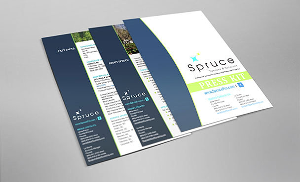Christine morgan graphic design greenville sc spruce for Press kit design
