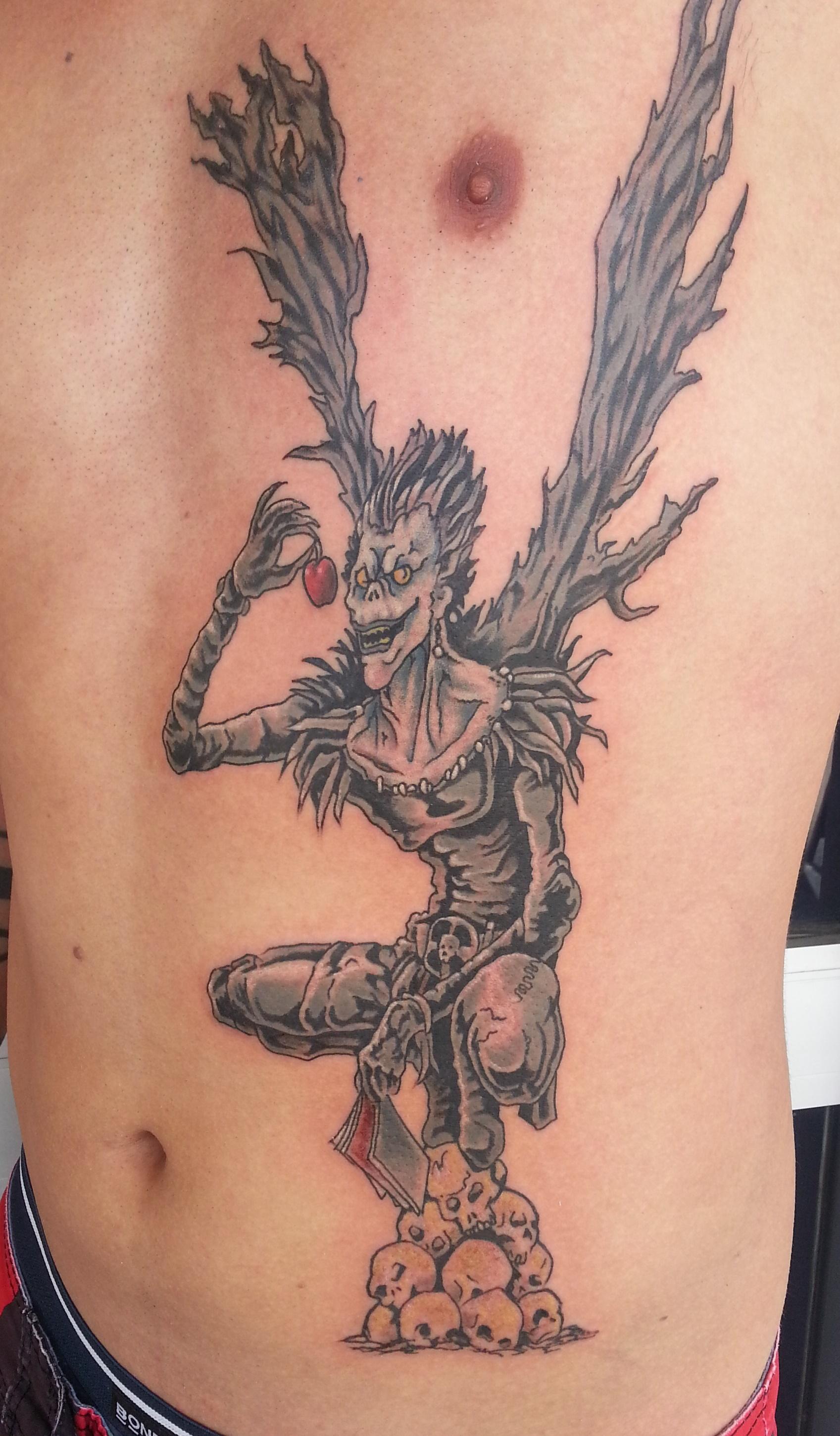 Good Vibrations Tattoo Studiotattoo Studios Townsville  Death Note