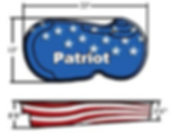 Patriot fiberglass Pool model drawing