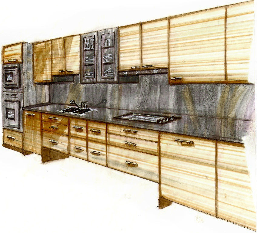 Kitchen Design Rendering: Alexandra Lyn Miller: Certified Interior Designer
