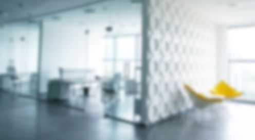 Blurred out office interior