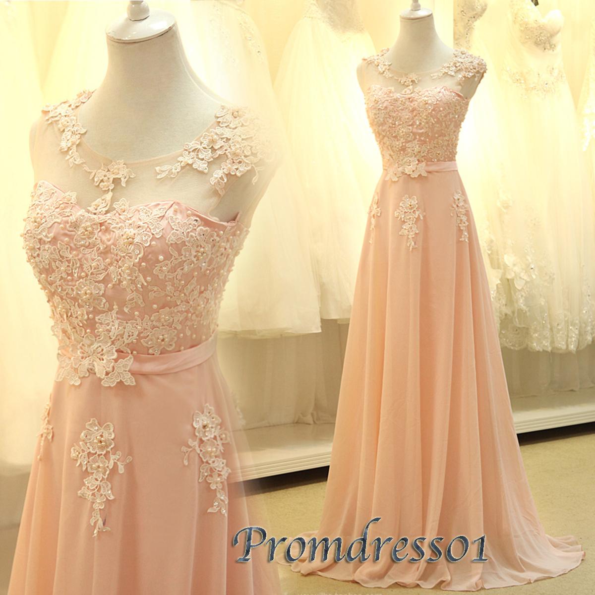 Elegant new design pink slim long lace prom dress | Prom ...