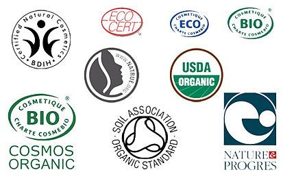 Labels cosmétiques bio