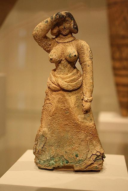 Woman making Minoan salute gesture