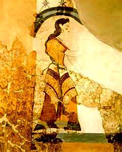 Akrotiri fresco priestess