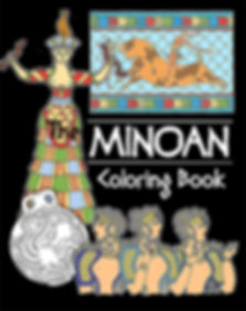 Minoan Coloring Book front cover for web