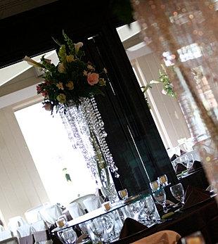 Chandelier w/ Pilsner Vase