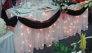 Organza Tableskirt with Lights
