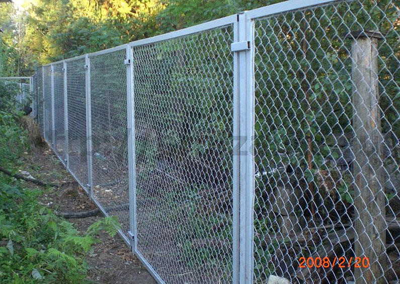 Забор сетка рабица видео