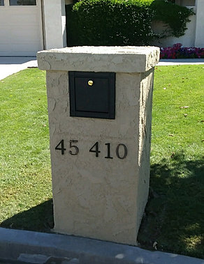 Mailbox Pedestals Palm Springs Champion Construction