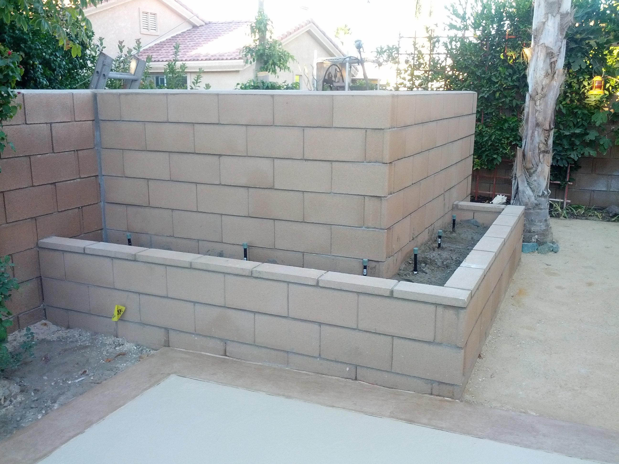 Indio Ca Concrete Services Reputable Contractor Champion Block Wall Around Pool Equipment