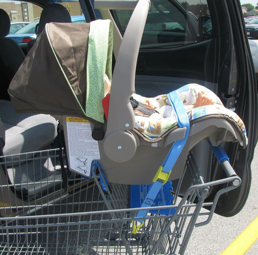 Chicco Car Seat In Shopping Cart