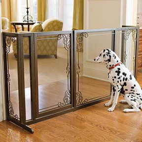 These Decorative Mesh Gates Keep Your Pets Safe In Style Find Them At Frontgate Com